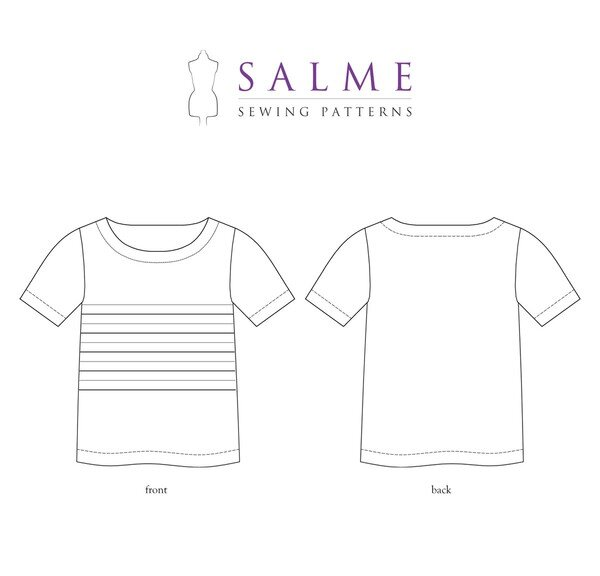 Salme Patterns - Loose Fitting Pleated T-shirt