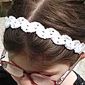 Bandeau crochet coton Fifty blanc 2