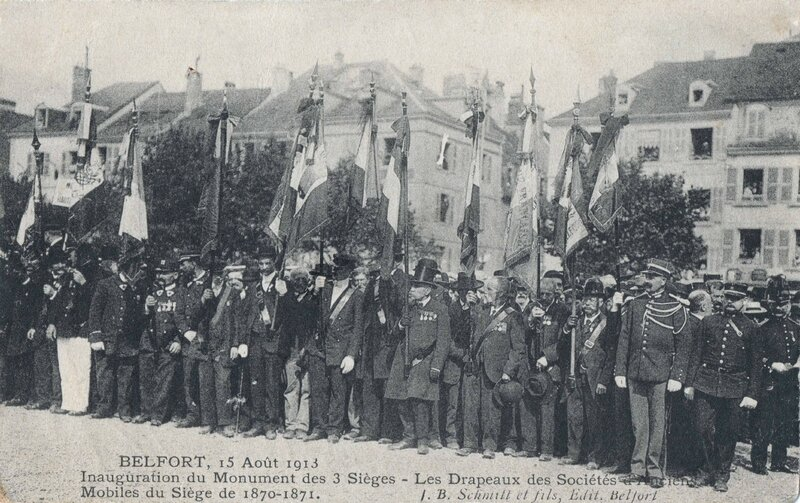 CPA Belfort Inauguration 3 Sièges 1913 Monument 3