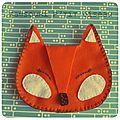 Défi des sc and more n° 329 : un renard! ici c'est une pochette en feutrine pour reprendre du poil de la bête!