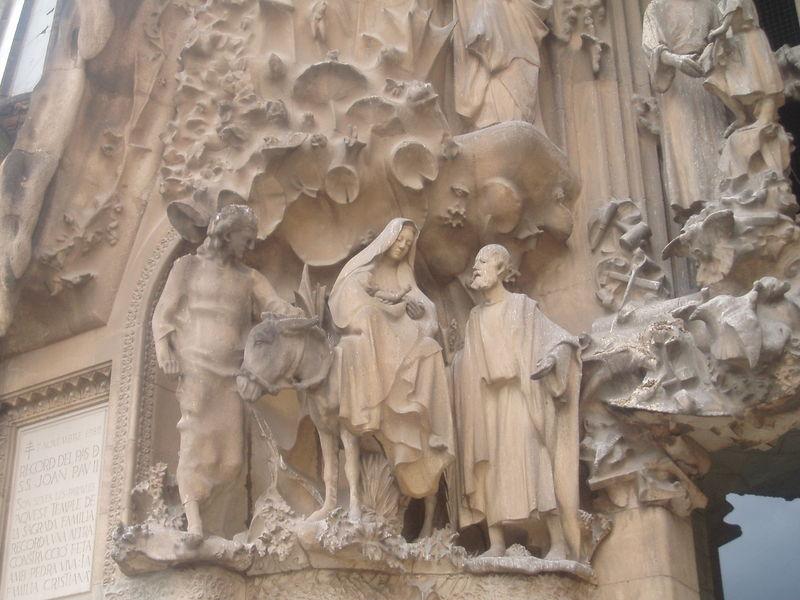 Sagrada Familia Façade de la Nativité Détail