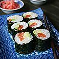 Maki saumon-avocat avec étapes et astuces
