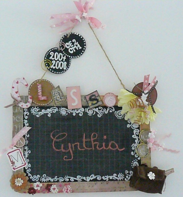 Ardoise pour Cynthia