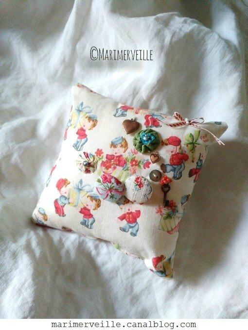 Petit coussin for you - saint valentin - marimerveille