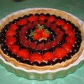 Tarte aux fruits rouges et chocolat blanc