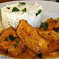 Blanc de poulet au lait de coco/curry/citronnelle