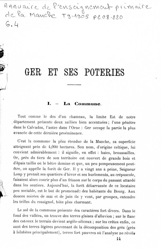 Mauger 1904 - Ger et ses poteries_Page_1