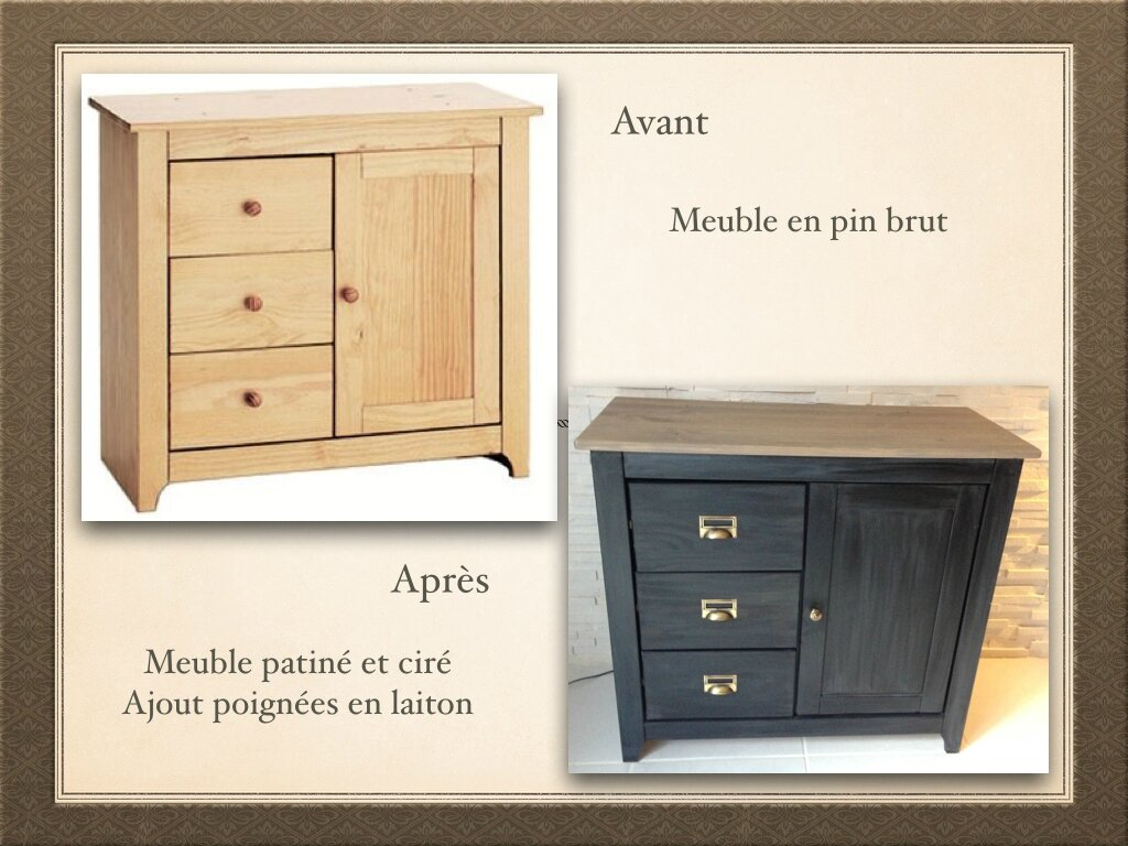 personnaliser un meuble en bois brut diyco by jane. Black Bedroom Furniture Sets. Home Design Ideas