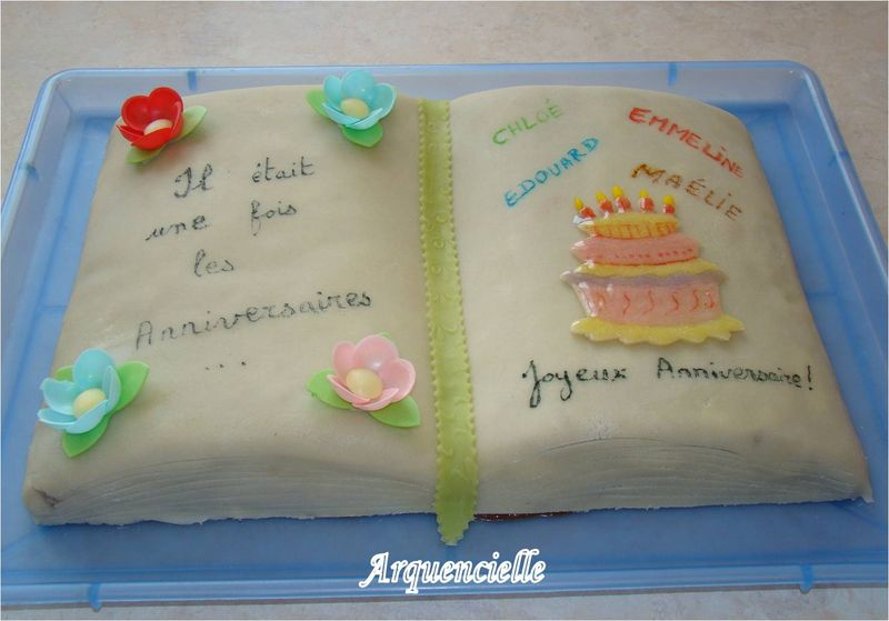 Gateau theme ecole