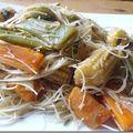 Nouilles de riz aux légumes aigre doux ( sans gluten )