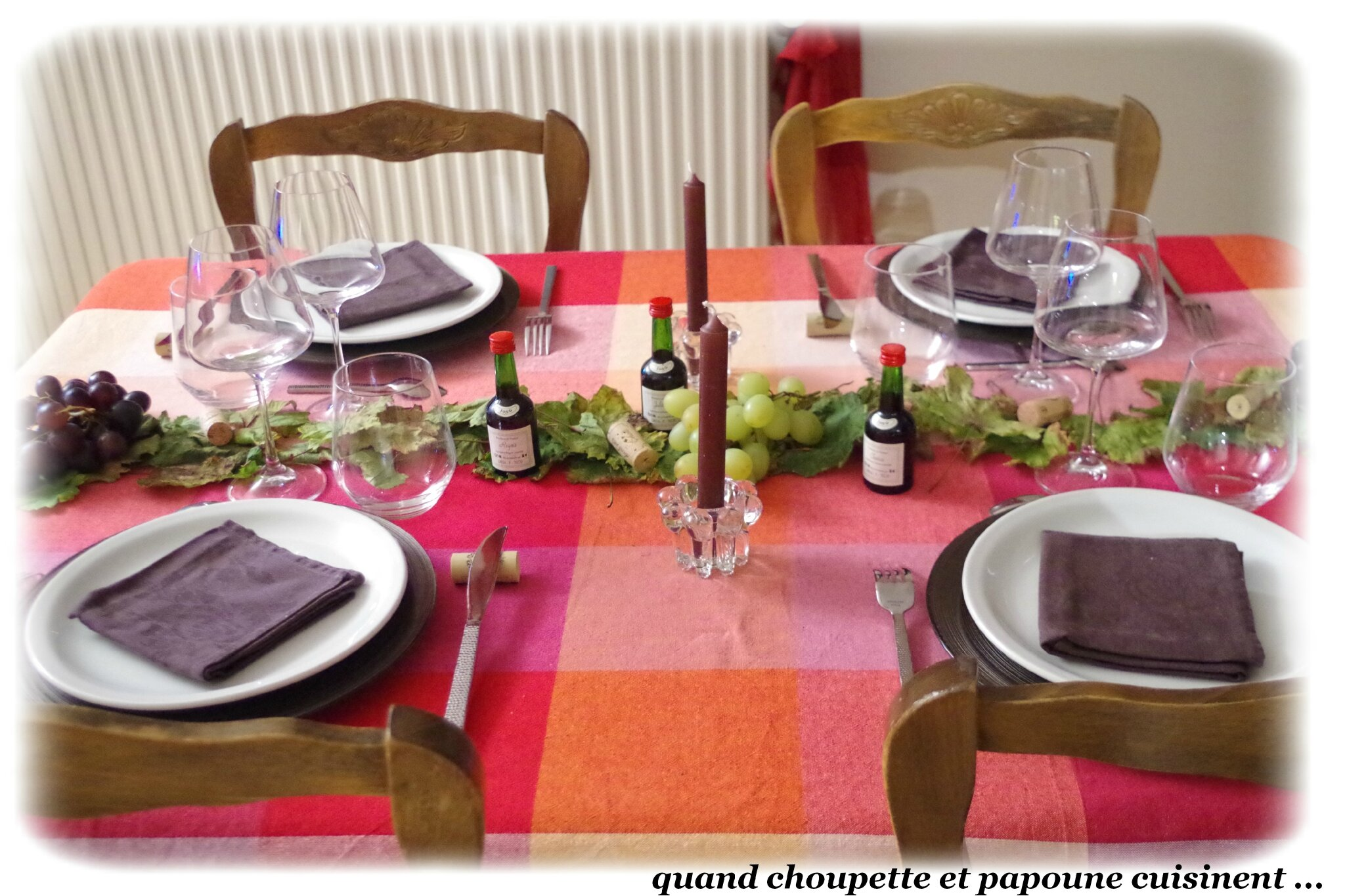 MA TABLE SPECIALE VENDANGES
