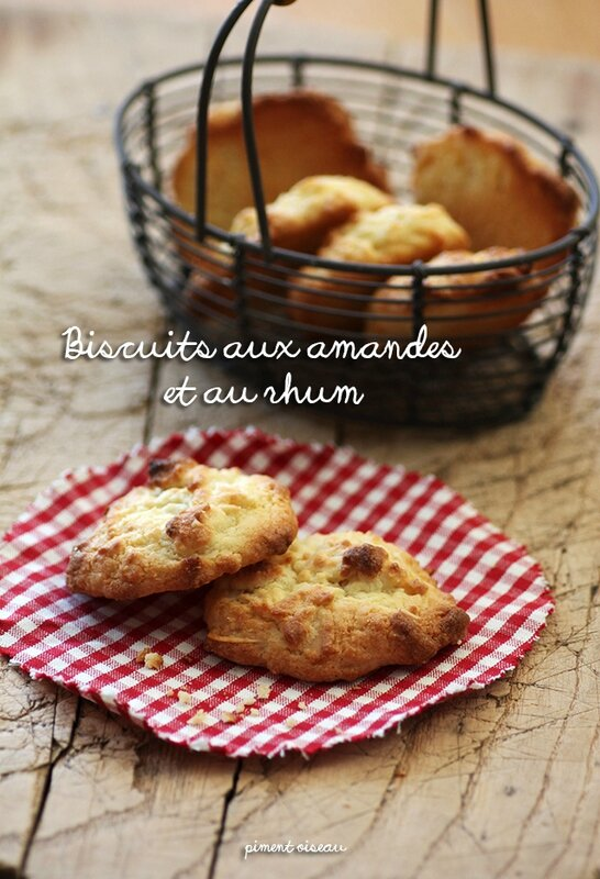 biscuits aux amandes et au rhum - Almonds and rum biscuits