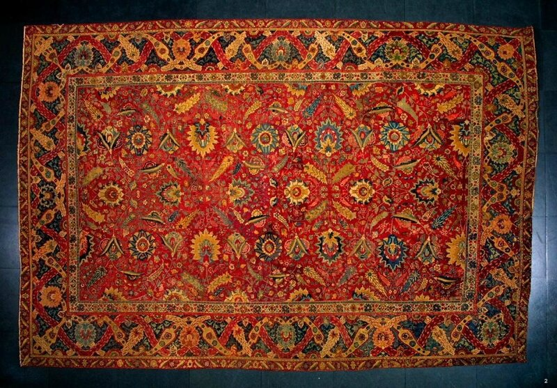 Carpet with floral decoration