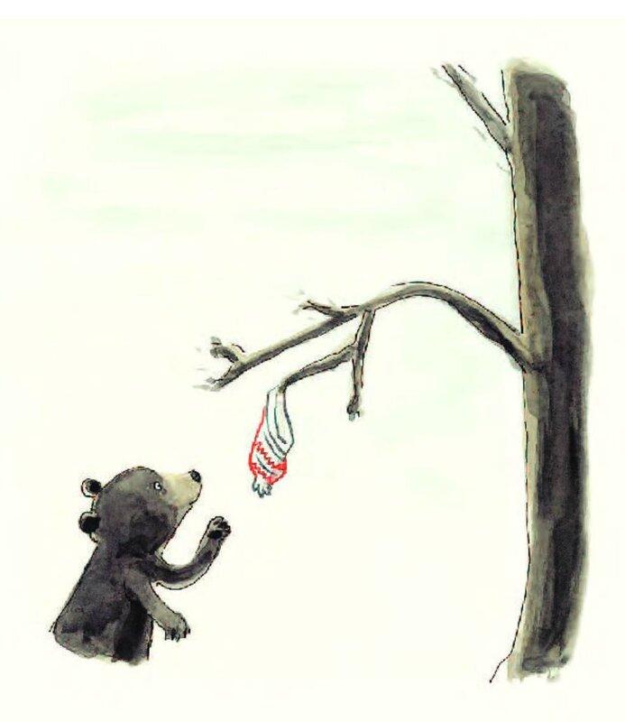 un ours à l'ecole trouvaille