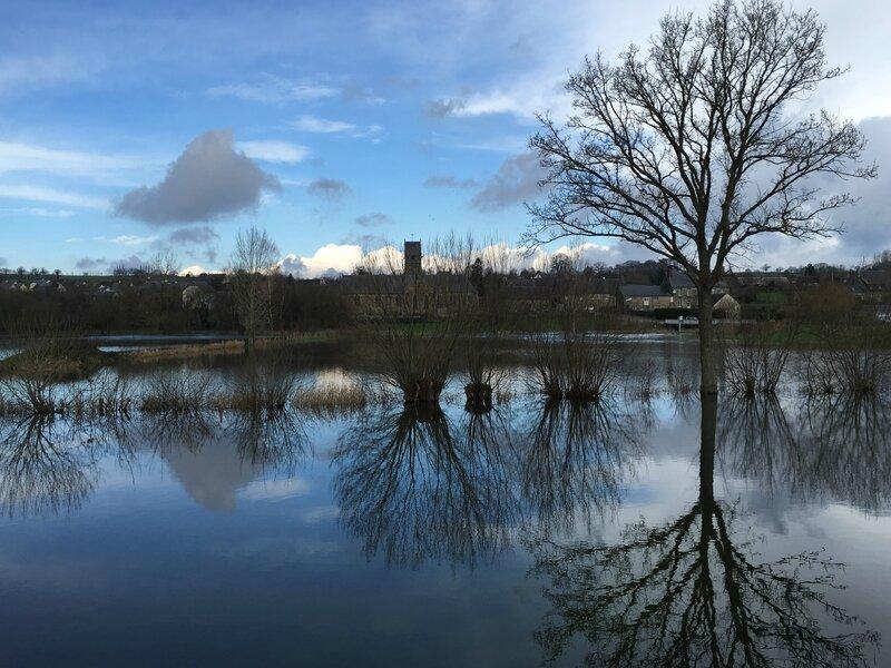 inondation crue 14 février 2016 Tirepied Sée