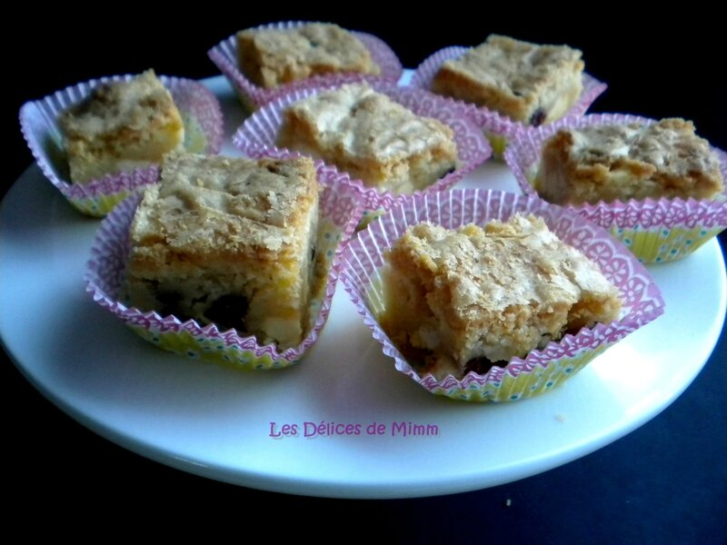 Blondies aux cranberries 3