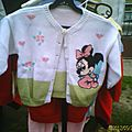 Gilet machine Minnie Baby