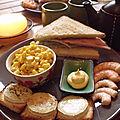 Pica-pica entre copine et tartinade de soja.