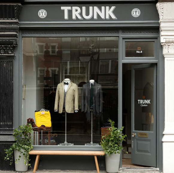 trunk clothiers mary le bone