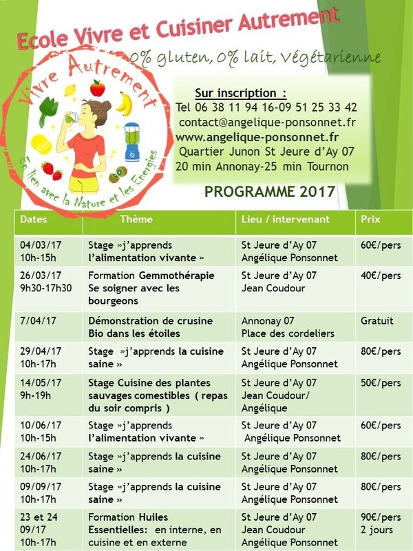 Programme vivre autrement 2017