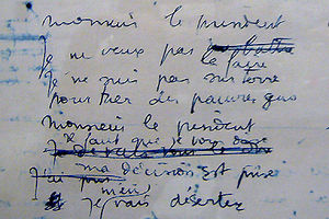 le_deserteur_manuscrit