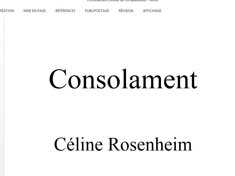 consolament word