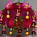 Suspension décorative Fushia