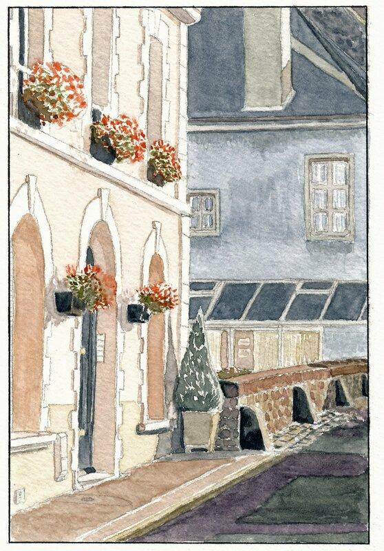 03 Sablé - Le petit pont de la rue d'Erve 1992 02 23 (1 de 2)