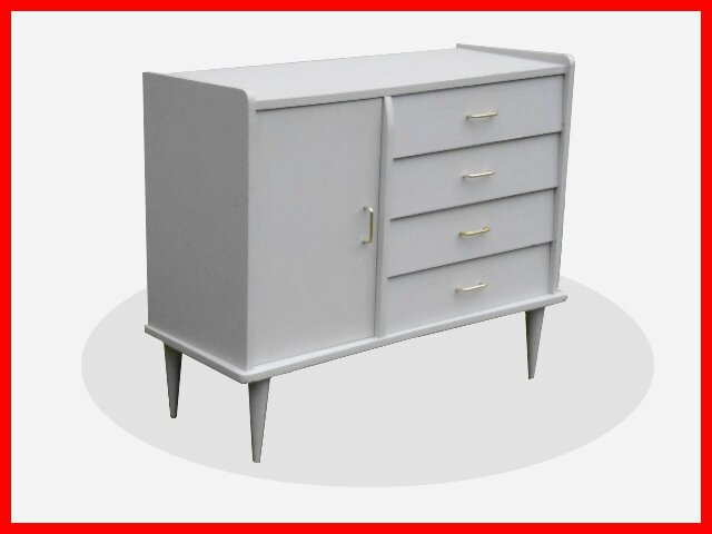 Buffet - commode peinte