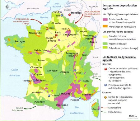 L'espace agricole français