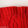 sac rouge torsadé c