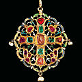 An armenian gemset and enamelled reliquary, ottoman turkey, 17th century
