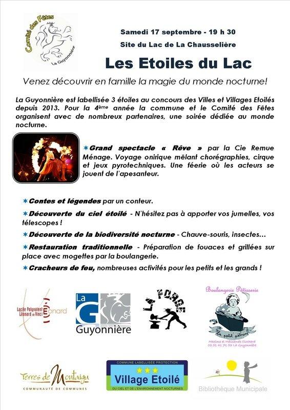 2016 Etoiles du Lac Flyer Verso