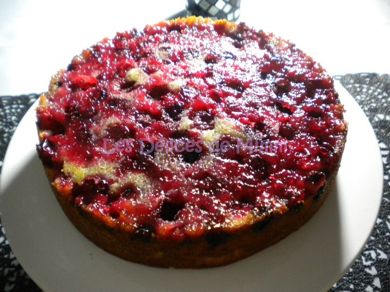 Gateau cranberries fraiches