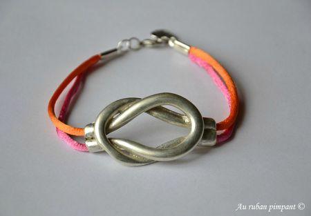 Bracelet Alauda - Cordon orange et rose