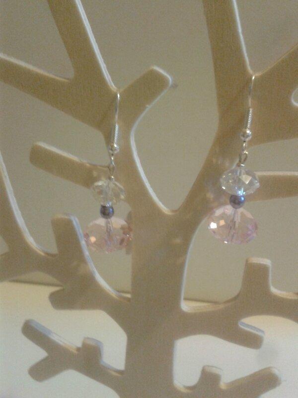 boucle d'oreille perles en verre (2)