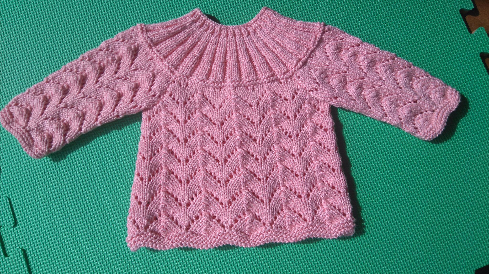Brassiere bebe point fantaisie tricot choupie tricote - Modele de point au tricot ...