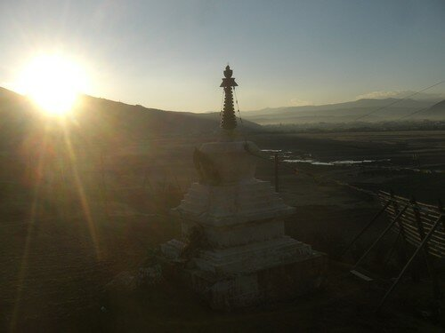 Sortie de Zhongdian, lever du soleil