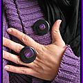 parure noir et violet (P77)