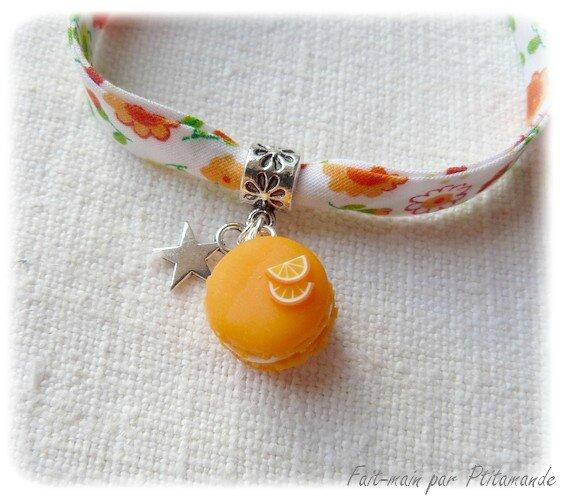 Bracelet macaron orange (3)