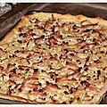Flammenkueche : tarte flambée alsacienne