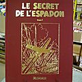 E.p. jacobs le secret de l'espadon dargaud 35.50 x 48 cm