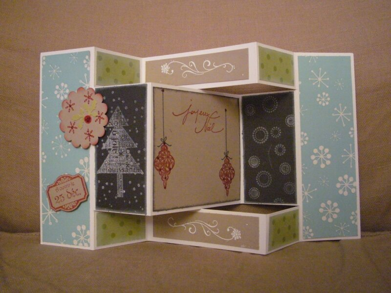 Carte 3d pour no l atelier stampin 39 up photo de scrap cartes anniversaires voeux divers - Carte de voeux scrapbooking ...