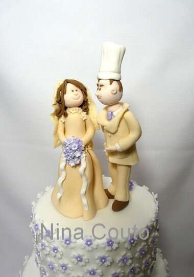 nina couto gateau mariage Modelages mariés
