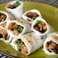 Banh cuon : galettes fourrées au porc et aux champignons