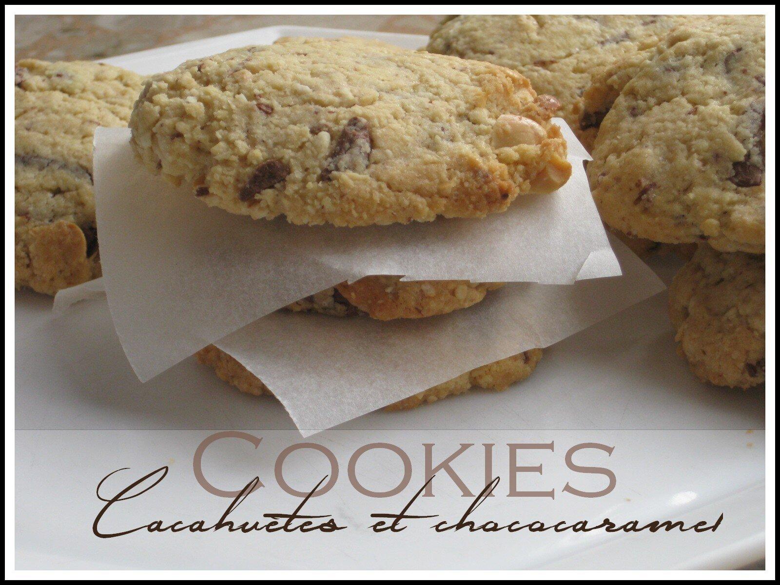 Cookies aux cacahuètes et pépites chococaramel