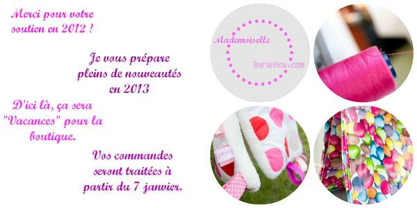 message vacances dec 2012