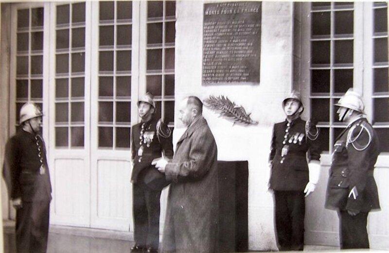 Plaque Sapeurs Pompiers Inauguration plaque Caserne