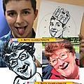 Concours de grimaces dessiné en caricatures