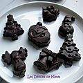 🎄 calendrier de l'avent 2015 #21 - petits chocolats de noël aux fruits secs